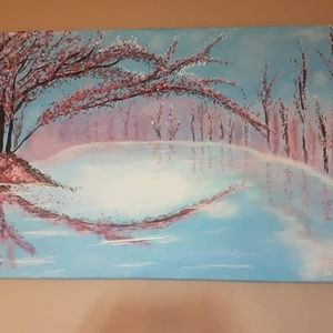 Other - Original Cherry blossom acrylic painting
